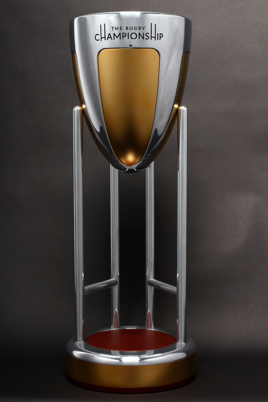 The Rugby Championship trophy is unveiled