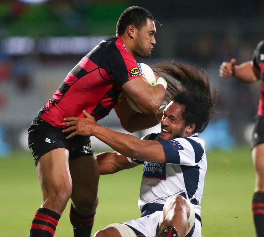 Canterbury's Robbie Fruean shrugs off Auckland's Liaki Moli