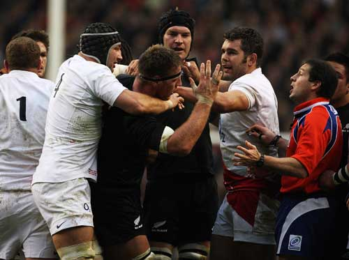 Tempers flare between England and New Zealand