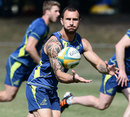 Australia's Quade Cooper warms up for his side's clash with Argentina