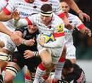 Saracens' Chris Ashton takes the ball forward