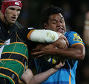 Wasps' Billy Vuniploa tries to maintain possession
