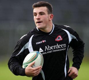 Edinburgh's Matt Scott warms up for his side's euro opener