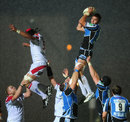Glasgow's Ryan Wilson claims the lineout ball