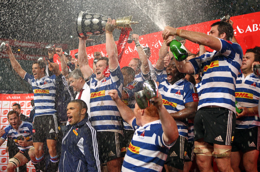 Western Province celebrate winning the Currie Cup crown