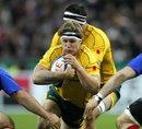 Australia's Kane Douglas leads an attack