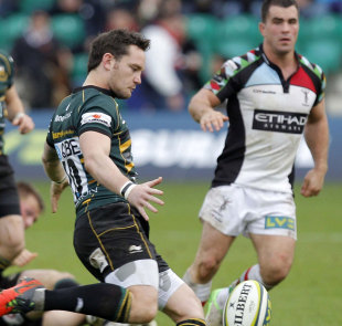 Northampton's Ryan Lamb clears
