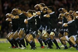 The Maori All Blacks perform their Haka