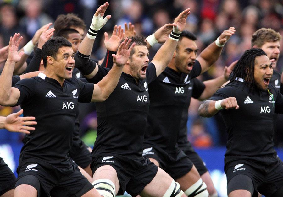 New Zealand perform a haka