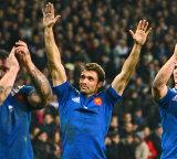 France's Vincent Clerc salutes supporters, France v Argentina, Lille-Grand-Stade, Lille, France, November 17, 2012