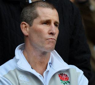 England coach Stuart Lancaster looks pensive, England v Australia, Twickenham, England, November 17, 2012