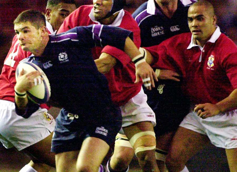 Scotland's Gordon Ross makes a break