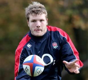 England's Joe Launchbury keeps his eye on the ball