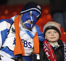 Two Scotland fans in Aberdeen