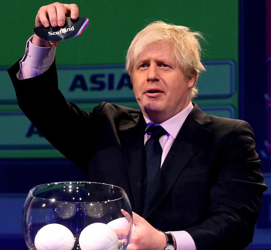 London mayor Boris Johnson at the World Cup draw
