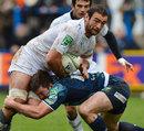 Montpellier flanker Mamuka Gorgodze charges forward
