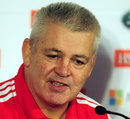 Warren Gatland at the unveiling of the Lions coaching team