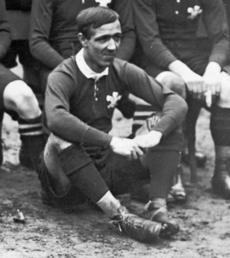 Wales' Billy Trew poses for a team photo