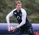 England's Billy Twelvetrees looks for support in training
