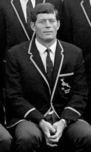 Jan Ellis pictured at the start of the Springboks tour, London, November 1, 1969