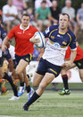 Jesse Mogg of the Brumbies runs over to score during the Super Rugby trial match