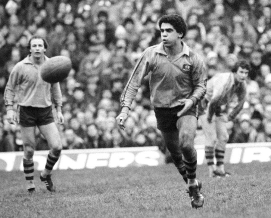 Mark Ella in action during Australia's defeat at Twickenham