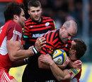 Saracens' Charlie Hodgson charges forward