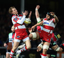 Gloucester's Billy Twelvetrees takes a high ball