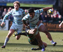Leicester's Manu Tuilagi tries to break through against Northampton