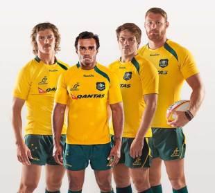 The Wallabies unveil their new kit, Australia, April 4, 2013