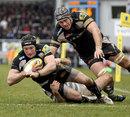 Exeter's Matt Jess powers over for a score