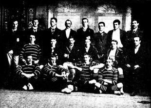 The Great Britain team line up, Perth, Australia, June 24, 1899