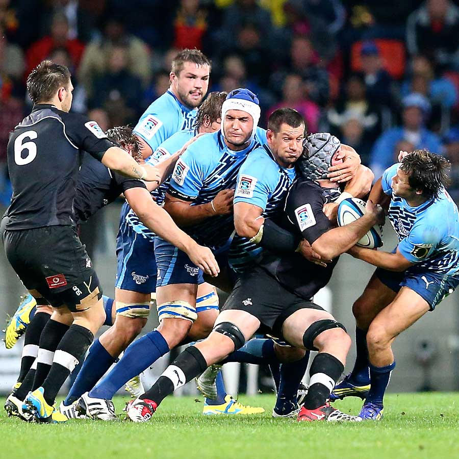 Southern Kings' David Bulbring is tackled high