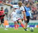 Toulon's Jonny Wilkinson slots a kick against Saracens
