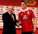 Warren Gatland congratulates Lions captain Sam Warburton on his appointment