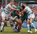London Irish gang up on Leicester's Manu Tuilagi