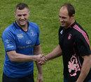 Leinster's Jamie Heaslip and Stade Francais' Sergio Parisse