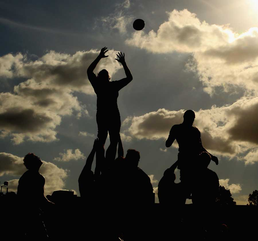 The Melbourne Rebels in training