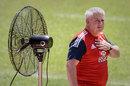 Lions coach Warren Gatland feels the heat in Hong Kong