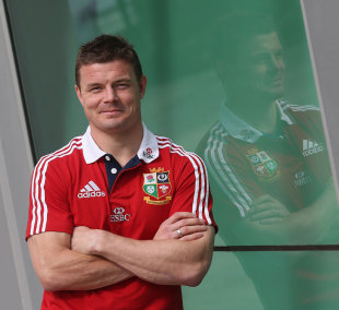 Brian O'Driscoll poses after being named as Lions captain for the second match, Langley Park, Perth, June 3, 2013