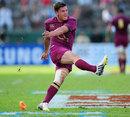 England's Freddie Burns slots a kick