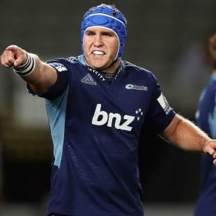 James Parsons directs his Blues team-mates, Blues v Highlanders, Super Rugby, Eden Park, Auckland, April 5, 2013