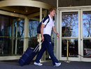 Billy Twelvetrees departs the England hotel after being called up to the Lions tour of Australia