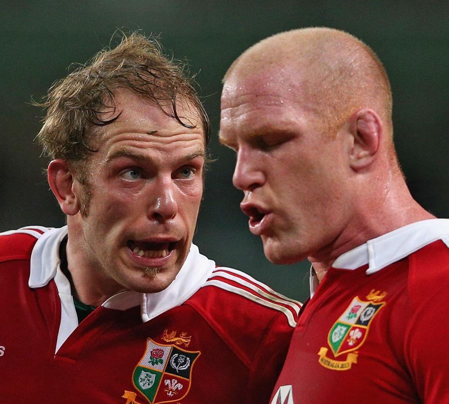 Lions locks Alun Wyn Jones and Paul O'Connell