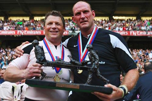Scott Gibbs and Lawrence Dallaglio