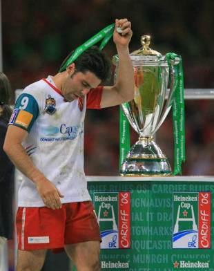 Dimitri Yachvili trudges past the Heineken Cup following Biarritz's defeat