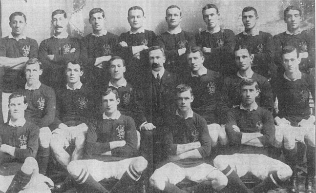 Wellington Provincial side of 1908, which beat the touring Anglo-Welsh team 19-13