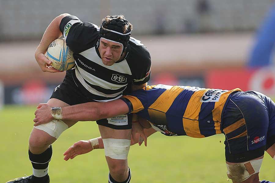 Hawke's Bay's Mark Atkins rumbles forward