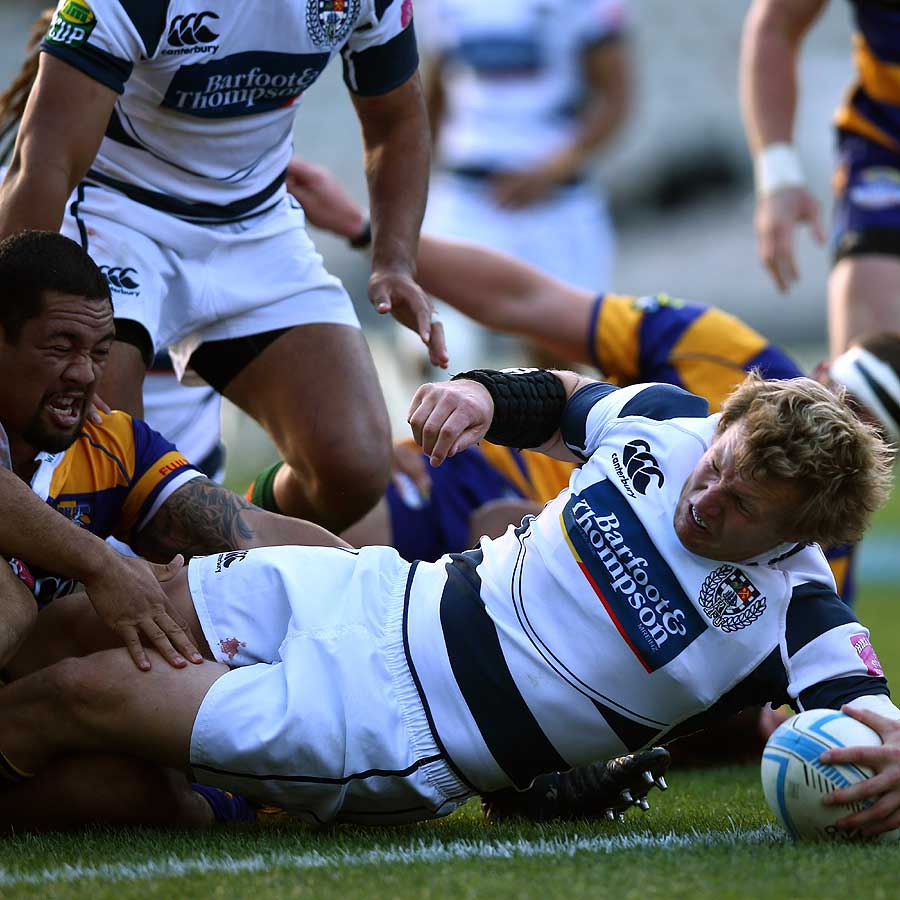 Auckland's Hadleigh Parkes Stretches Over For A Try