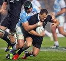 Argentina's Pablo Matera tackles New Zealand's Israel Dagg